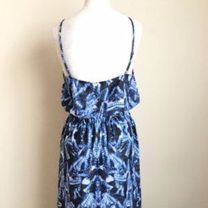 Rieley Dresses - Rieley Blue Printed Button Front Maxi Dress